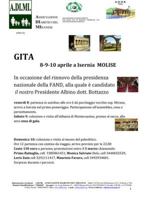 GITA 8-9-10 aprile a Isernia MOLISE